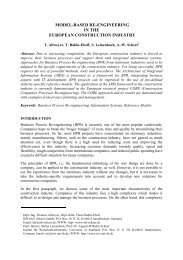 model-based re-engineering in the european construction industry