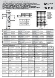 Relay Pump Single-Phase PS11-R Instructions - Fanox