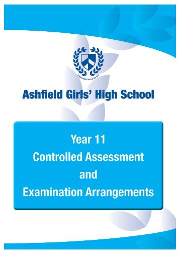 Year 11 Controlled Assessment and Examination Arrangements pdf