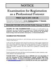 April 12, 2013 RPF/CRM Exam Notice (35KB PDF) - Board of Forestry