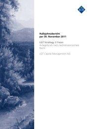 Halbjahresbericht per 30. November 2011 LGT Strategy 3 Years ...