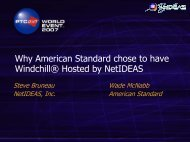 Why American Standard chose to have Windchill ... - NetIDEAS, Inc.