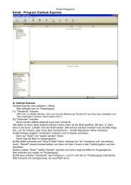 eMail - Programm Outlook Express und T-Online Zugänge - dj6tj.de