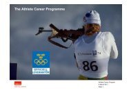 The Athlete Career Programme