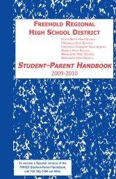 Parent Handbook-2009-10.qxd - Freehold Regional High School ...