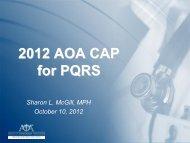CAP/PQRS Update - AOAMI