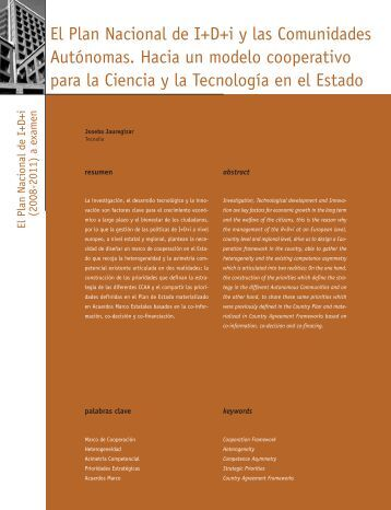 El Plan Nacional de I+D+i y las Comunidades Autónomas - Madri+d