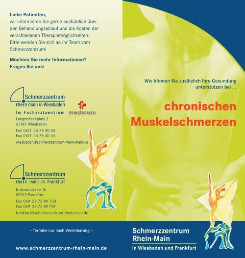 chronischen Muskelschmerzen - Schmerzzentrum Rhein-Main