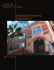 Spring, 2008 - Department of Industrial and Systems Engineering