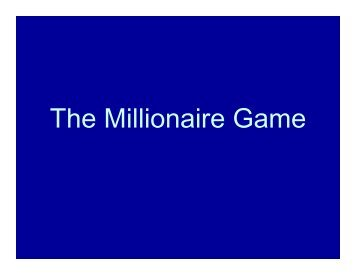 1-The Millionaire Game - Missouri Council for Economic Education