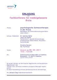 einladung - Schmerzzentrum Rhein-Main