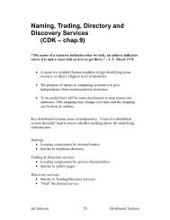 Naming, Trading, Directory and Discovery Services (CDK – chap.9)