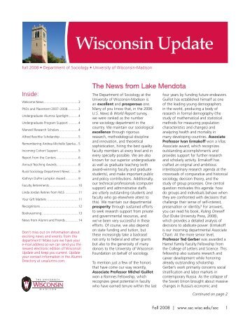Wisconsin Update - Wisconsin Alumni Association