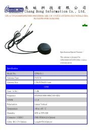 Specification Model No. GPM-01-1 Antenna Type PATCH Antenna ...