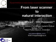 From laser scanner to natural interaction - LinkSCEEM