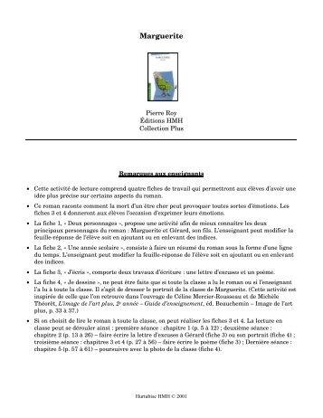 Marguerite - Les Éditions Hurtubise