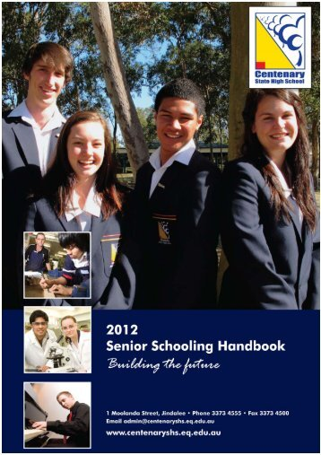 Senior Schooling Booklet - Centenary State High School - Education ...