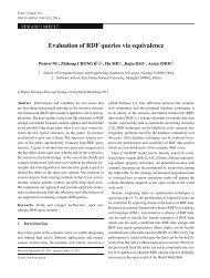 Evaluation of RDF queries via equivalence