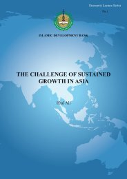 The Challenge of Sustained Growth in Asia - Islamic Development ...