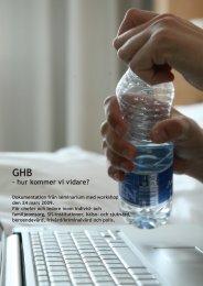 GHB – Hur kommer vi vidare - Göteborg