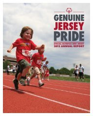 2012 annual report - Special Olympics New Jersey