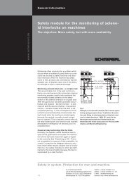 Safety module for the monitoring of soleno- id interlocks ... - Schmersal