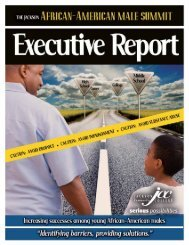 The Jackson African-American Male Summit Executive Report