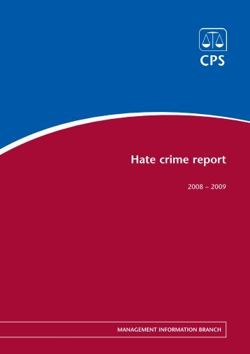 Hate Crime Report 2008-2009 - Crown Prosecution Service