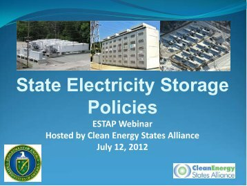State Electricity Storage Policies - Combined Presentations
