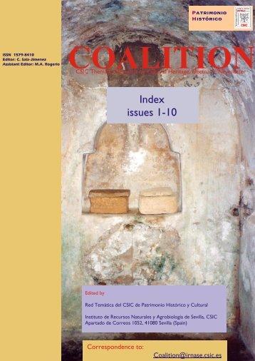 Index issues 1-10 - Red Tematica de Patrimonio Historico y Cultural