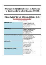 Travaux de réhabilitation de la Ferme de la ... - Saint-Aubin