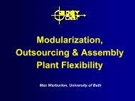 Modularization, Outsourcing & Assembly Plant Flexibility - 3DayCar
