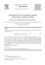 Asymptotically linear Schrödinger equation with potential vanishing ...