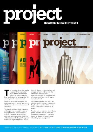 Project Media Pack 2013. - Association for Project Management