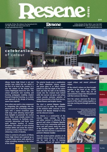 Resene Newsletter Issue 3 2011