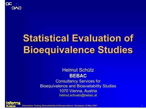 Bioequivalence Study Comparing Two Formulations of ...