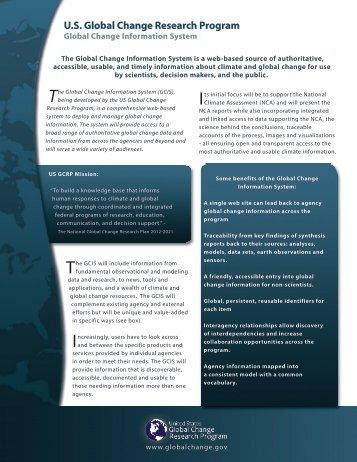 GCIS - U.S. Global Change Research Program
