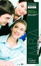 M BA full time - Alumni Network - Luiss
