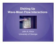 Dishing Up Wave-Mean Flow Interactions - Geophysical Sciences