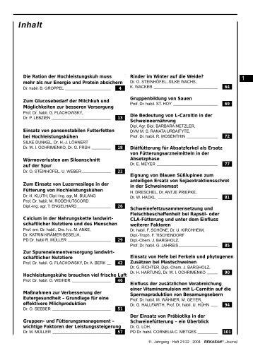 11. Jahrgang · Heft 21/22 · 2004