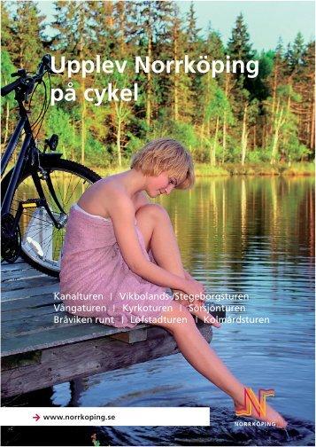 """broschyren """"Upplev Norrköping på Cykel"""""""