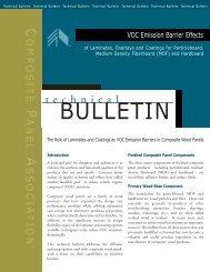 VOC Emission Barrier Effects - Composite Panel Association