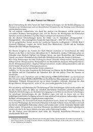 Lino Franceschini Die alten Namen von Münster - franceschini.de