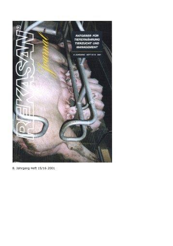 8. Jahrgang Heft 15/16 2001