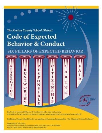 Student Code of Conduct - Kenton County Schools