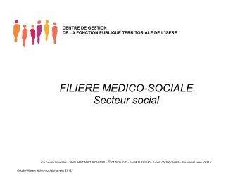 FILIERE MEDICO-SOCIALE Secteur social - CDG38
