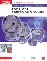 Sani-Flow Sanitary Pressure Gauges - Chicago Stainless Equipment