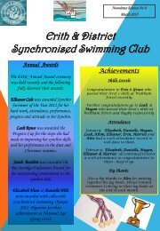 April 2013 - Erith & District Swimming Club