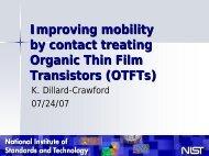 Contact treated OTFTs - Society of Physics Students