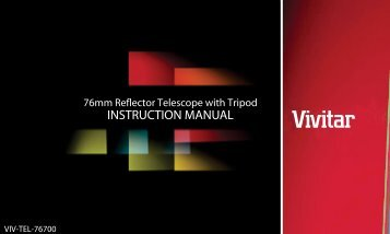 INSTRUCTION MANUAL - Vivitar